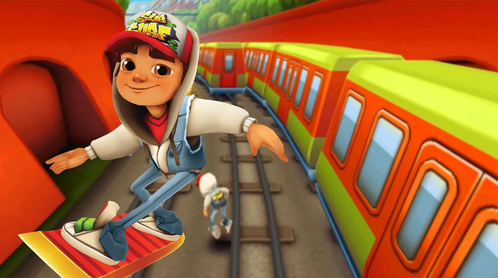 Subway Surfer riding